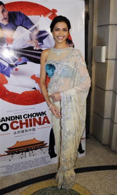 "Actress Deepika Padukone arrives at the premiere of the film ""Chandni Chowk to China"" in Burbank, California"